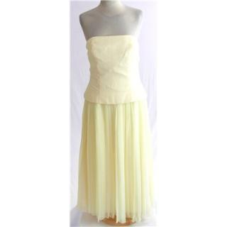 BNWT Forever Yours size 10 pale lemon strapless bridesmaid dress