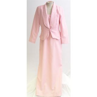 BNWT Val Koots Colour Size 14 Pink Blush Bridesmaid Dress and Jacket