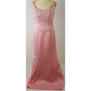 NWOT HollyK size 14 pink diamanté & pearl pink wedding dress