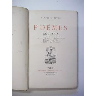 Poemes Modernes by Francois Coppee (François Coppée) (1869) Signed