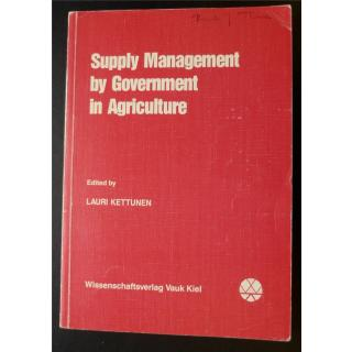 Supply Management By Government in Agriculture