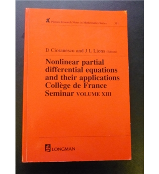 Nonlinear partial differential equations and their applications