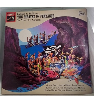 """Gilbert & Sullivan - The Pirates Of Penzance"" 2LP with Sir Malcolm Sargent - SXDW 3041"