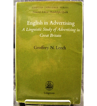 English In Advertising: A linguistic Study of Advertising In Great Britain