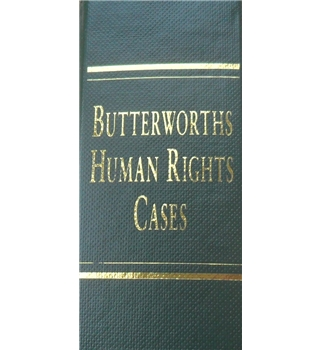 Butterworths Human Rights Cases Volume 26 - 2009
