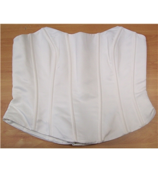 High Society by Jacquie Lawrence Plain  Ivory Bustier Size 18