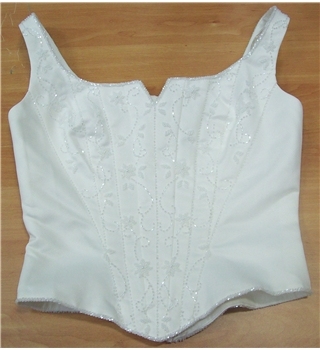 High Society by Jacquie Lawrence  Ivory Strappy Bodice Size 12