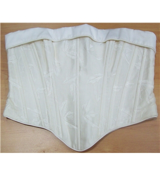 Cream Embroidered Bustier UK Size 14