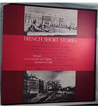 """French Short Stories"" -Voltaire et al Folkways LP - FL 9937"