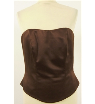 Olivia Mae Size 12 Chocolate Brown Bridesmaids Bustier