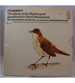 Stravinsky: The Song of the Nightingale, Symphony in three movements - Philharmonia Orchestra, C.Silvestri - CFP 40094