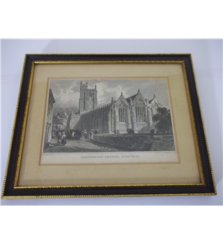 Antique Print of  Cornwall circa 1800