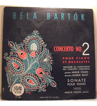 """Bartok - Concerto No.2 & Sonata For Piano"" LP - VP 280"