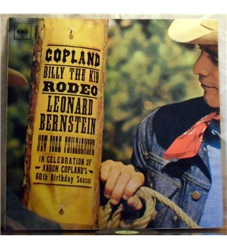 """Copland -Billy The Kid & Rodeo"" LP by Bernstein- BRG 72411"