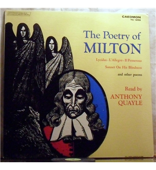 """The Poetry Of Milton -""Lycidas"" etc"" Caedmon LP - TC 1259"
