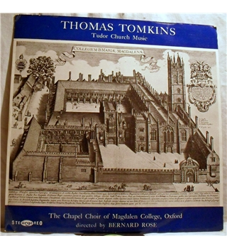 """Thomas Tompkins -Tudor Church Music"" Argo LP - ZRG 5249"