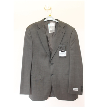 "BNWOT Marks & Spencers Size 40"" Chest Suit Jacket Marks & Spencers - Size: L - Grey - Single breasted suit jacket"