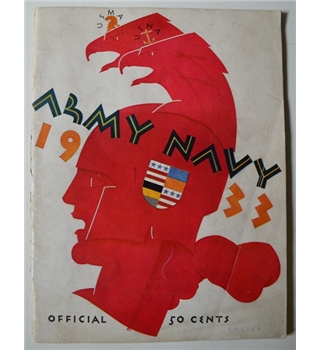 Army Navy 1933 American Football Program 1933
