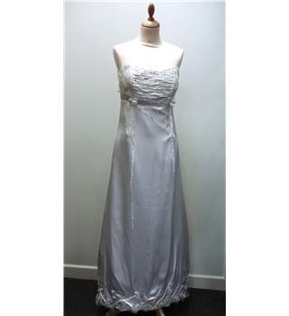 Ivory Empire Line Full Length Bridal Gown Beaded - Medium - Incanto - Cream / ivory - Strapless wedding dress