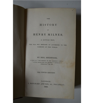 The History of Henry Milner - 1835