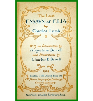 The Last Essays of Elia