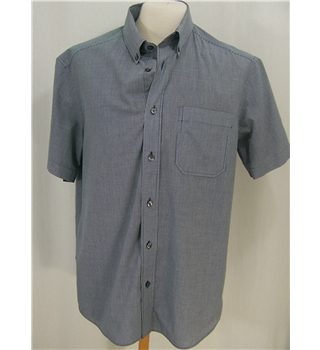 M&S Man, size M. navy and white,short-sleeved shirt