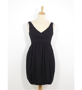 Asos Size 8 Black Dress With Gold Back