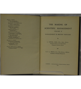 The Making of Scientific Management, Volume II