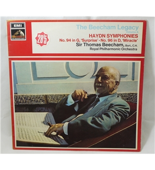 Haydn Symphonies (No. 94 in G, 'Surprise' and No. 96 in D, 'Miracle') - Thomas Beecham - EMI HQM1148