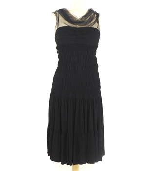 BNWT Alessandro Dell'Acqua Size UK 8 Sleeveless Black Evening Dress