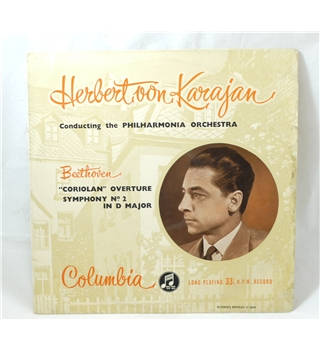 "Beethoven ""Coriolan"" Overture/ Symphony No. 2 in D Major - Karajan/ Philharmonia - Columbia 33CX1227"