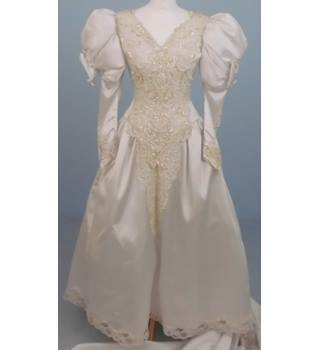 Jasmine Couture, size 8, white beaded wedding dress