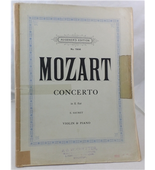 Mozart - Violin Concerto In E flat K. 268. Piano and Violin.