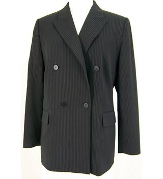 Windsmoor - size 14 - black pinstripe - double breasted jacket