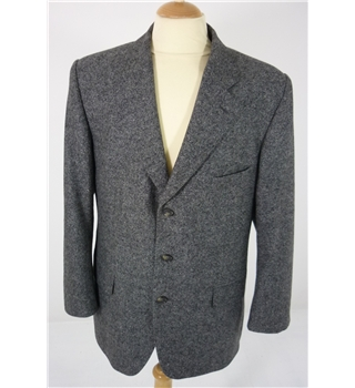 "Crombie Size: Jacket, L, 42"" chest  & Trousers 38"" W, 28"" L Grey Mottle Effect  Classic Wool  Hand Made Finest Designer Suit"