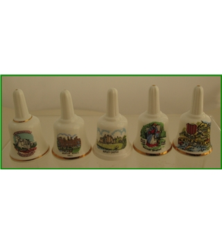 Souvinir ceramic bells - 5 pieces