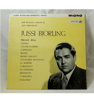 Jussi Bjorling - Operatic Arias (with Orchestra conducted by Nils Grevillius) - HMV ALP1620