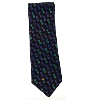 Valentino Silk Tie Black, Blue, Green