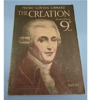"Vintage Sheet Music. Music-Lovers Library: Haydn ""The Creation"""
