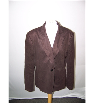 Offshoot suede effect jacket Offshoot - Size: 16 - Brown - Jacket