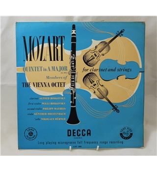 Mozart Quintet in A Major for Clarinet and Strings (K.581) - Vienna Octet (including the Boskovskys) - Decca LXT 5031
