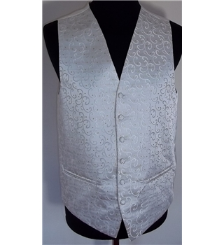 "BHS Wedding Collection Size 38"" Ivory Coloured Waist Coat"