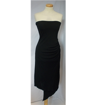 Morgan size small black strapless dress