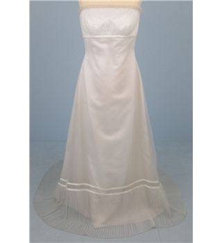 Ellis size UK 12 ivory strapless wedding dress