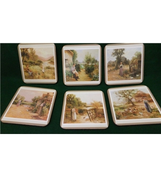 Set of 6 Pimpernel Country Life Coasters