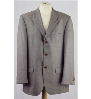 "Massimo Dutti men's single breasted jacket 44"" chest, grey-beige Massimo Dutti - Size: L - Beige - Jacket"