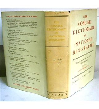 The Concise Dictionary of National Biography