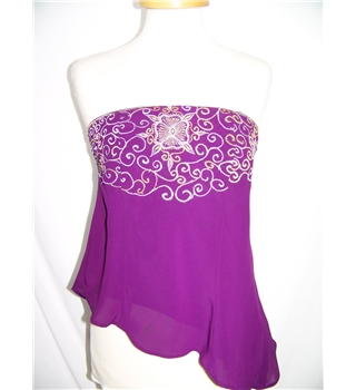 Size: 32 - Purple - Sleeveless top