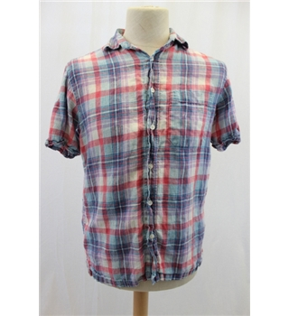 Blue Harbour Small Red and Blue Checked Shirt