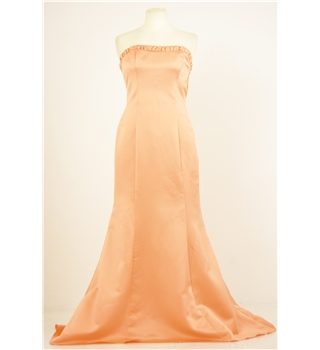 Forever Yours Size 12 Peach Bridesmaid Dress